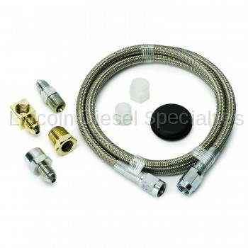 "Auto Meter - Auto Meter Braided Stainless Steel Line, #4 DIA., 4FT.Lgnth, -4AN AND 1/8"" NPTF Fittings (Universal)"