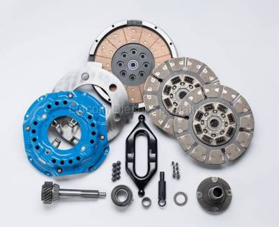 Transmission - Manual Transmission Clutches - South Bend Clutch - South Bend NV4500 Dual Disc Clutch Kit, Heavy Tow W/ Input Shaft , 850HP (1994-2004)