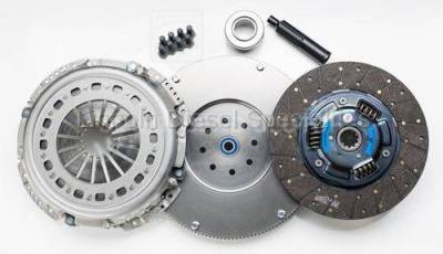 Transmission - Manual Transmission Clutches - South Bend Clutch - South Bend NV5600 Full Organic Heavy Duty  Clutch Kit, W/ Flywheel, 425HP, 20K Towing (2000.5-2005.5)