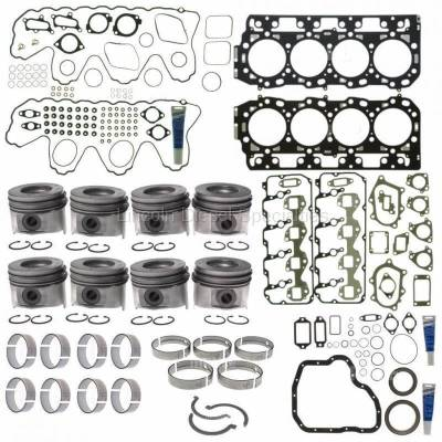 Engine - Pistons & Rings - Mahle OEM - Mahle Motorsports Complete Master Engine Rebuild Kit w/Performance Cast Pistons, No Pockets (2006-2010)