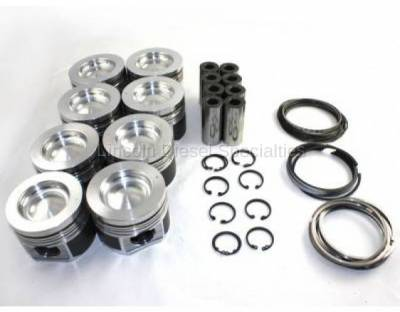 Engine - Pistons & Rings - Mahle Motorsports - MAHLE Motorsports Performance Cast Pistons Kit ,.040 16.6CR w/.075 Pockets (Delipped with Machine Valve Reliefs) 2001-2016