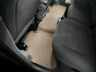 2003-2004 24 Valve, 5.9L Early - Interior Accessories - WeatherTech - WeatherTech Dodge/Ram Rear (2nd Row) Laser Measured Floor Liners (Tan) 2003-2006