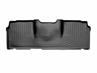2003-2004 24 Valve, 5.9L Early - Interior Accessories - WeatherTech - WeatherTech Dodge/Ram Rear (2nd Row) Laser Measured Floor Liners, Mega Cab (Black) 2006-2008