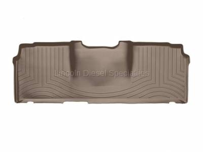 2003-2004 24 Valve, 5.9L Early - Interior Accessories - WeatherTech - WeatherTech Dodge/Ram Rear (2nd Row) Laser Measured Floor Liners, Mega Cab (Tan) 2006-2008