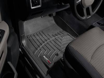 2007.5-2009 24 Valve 6.7L - Interior Accessories - WeatherTech - WeatherTech Dodge/Ram Front Driver & Passenger, Crew/Mega Cab  Laser Measured Floor Liners (Black) 2010-2012