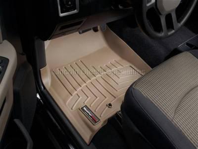 2010-2012 24 Valve 6.7L - Interior Accessories - WeatherTech - WeatherTech Dodge/Ram Front Driver & Passenger, Crew/Mega Cab  Laser Measured Floor Liners (Tan) 2010-2012