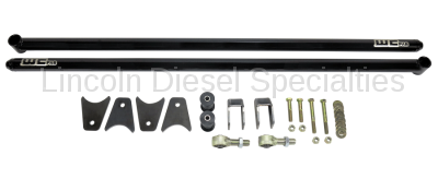 "2013-2020 24 Valve 6.7L - Suspension - WCFab - Wehrli Custom Fab Dodge, Ford, Universal 68"" Traction Bar Kit (ECLB, CCLB)"