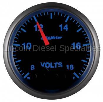 "Instrument Gauges/Pods/Hardware - Gauges - Auto Meter - Auto Meter Elite Series, 2-1/16"" Voltmeter, 8-18V, Digital  Stepper Motor (Universal)"
