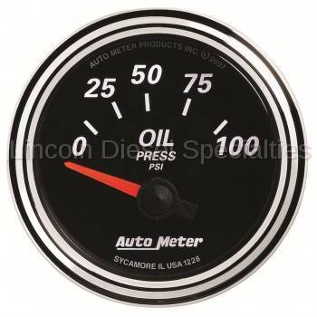 "Instrument Gauges/Pods/Hardware - Gauges - Auto Meter - Auto Meter Designer Black Series Oil Pressure. 2-1/16"", 0-100 PSI (Universal)"