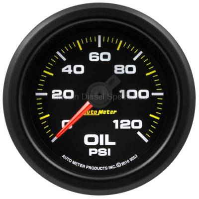 "Instrument Clusters/Gauges - Pods & Pillars - Auto Meter - Auto Meter Extreme Environment Series, 2 1/16"" Gauge, Oil Pressure 120PSI, Stepper Motor w/Warning  (Universal)"