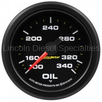 "Instrument Gauges/Pods/Hardware - Gauges - Auto Meter - Auto Meter Extreme Environment Series, 2 1/16"" Gauge, Oil Temp.340ºF, Stepper Motor w/ Peak & Warning (Universal)"