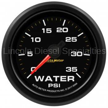 "Instrument Gauges/Pods/Hardware - Gauges - Auto Meter - Auto Meter Extreme Environment Series, 2 1/16"", Gauge, Water Pressure. 35 PSI, Stepper Motor w/Warning (Universal)"