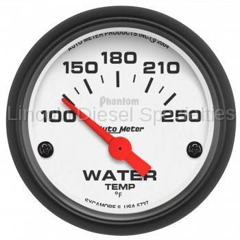 "Instrument Gauges/Pods/Hardware - Gauges - Auto Meter - Auto Meter Phantom Series 2-1/16"" WaterTemperature, 100-250 °F, Air Core (Universal)"