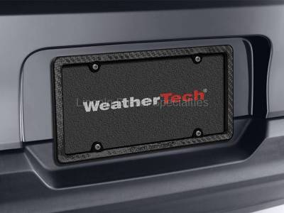 Exterior Accessories - Bed Accessories - WeatherTech - WeatherTech Carbon Fiber License Plate Frame (Universal)