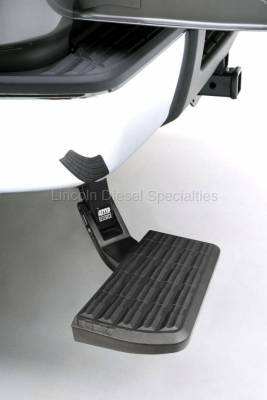 Exterior Accessories - Bumpers - AMP RESEARCH - AMP RESEARCH  BedStep Retractable Bumper Step (1999-2007)  Excludes Flareside