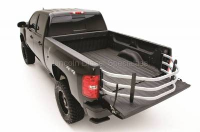 Exterior Accessories - Bed Accessories - AMP RESEARCH - AMP RESEARCH  BedXTender HD Sport Truck Bed Extender, Silver, STD. Bed (2007.5-2019)