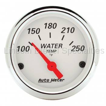 "Instrument Gauges/Pods/Hardware - Gauges - Auto Meter - Auto Meter Artic White, 2-1/16""Water Temperature 100-250 °F, (Universal)"