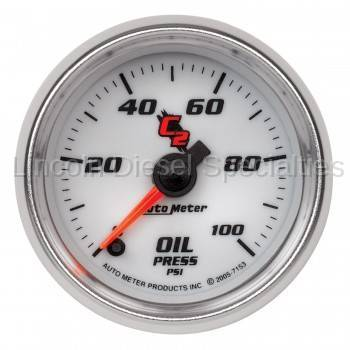 "Instrument Gauges/Pods/Hardware - Gauges - Auto Meter - Auto Meter C-2 Series Oil Pressure  2-1/16""0-100 PSI, Stepper Motor (Universal)"