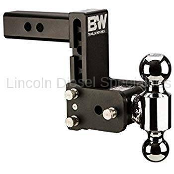 "07.5-10 LMM Duramax - Towing, Receivers, and Hitches - B&W Trailer Hitches - B&W Tow & Stow  Receiver Hitch, Dual Ball (2"" & 2-5/16"") 5"" Drop / 4.5"" Rise (Universal)"