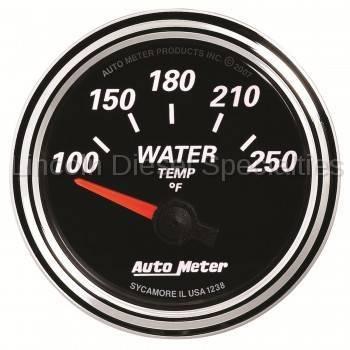 "Auto Meter - Auto Meter Designer Black Series Water Temp. 2-1/16"", 100-250 °F (Universal) - Image 2"