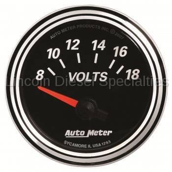 Instrument Clusters/Gauges - Gauges - Auto Meter - Auto Meter Designer Black Series VOLTMETER 2-1/16, 8-18V (Universal)