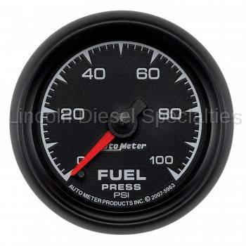 "Instrument Gauges/Pods/Hardware - Gauges - Auto Meter - Auto Meter  ES Series, 2 1/16"" Gauge, Fuel Pressure, 0-100 PSI, Stepper Motor (Universal)"