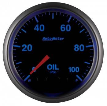 "Instrument Gauges/Pods/Hardware - Gauges - Auto Meter - Auto Meter Elite Series 2-1/16""Oil Pressure , 0-100 PSI, Stepper Motor (Universal)"